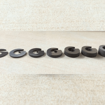 Tungsten Carbide Swirl Chamber Nozzles in various thickness - placed in increasing thickness order